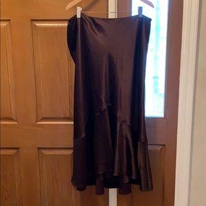 Silk Lauren Ralph Lauren A-line, High-low Skirt